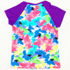 Aqua Blu Kids AG8060WH Rash Vest Short Sleeve- Whimsical