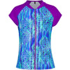 Aqua Blu Kids AG8070RI Zip Rash Vest Short Sleeve- Ripples