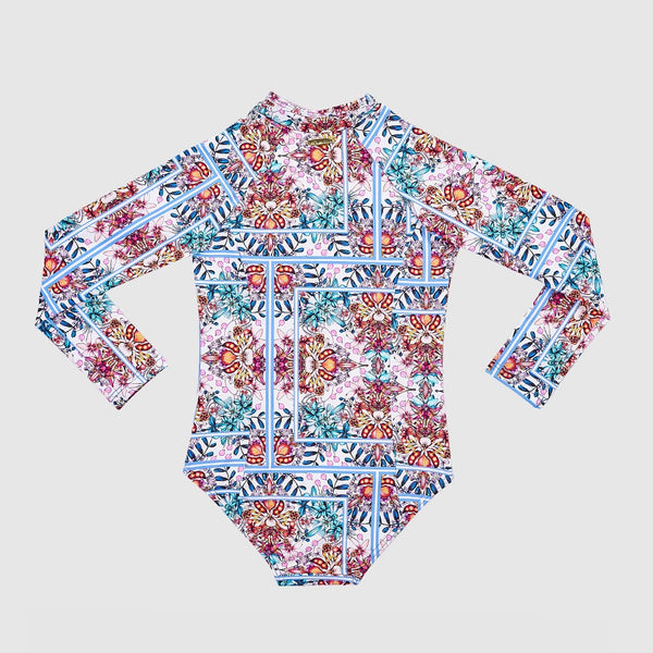 Aqua Blu Long Sleeve One Piece Jr AG2049HI- Hideaway