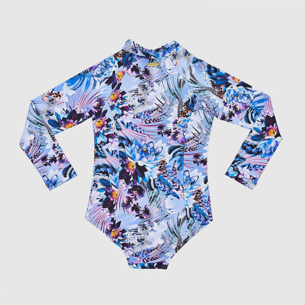 Aqua Blu Long Sleeve One Piece Jr AG2031IR- Iris
