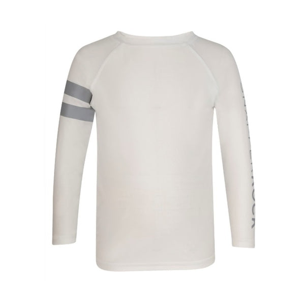 Snapper Rock Boys Long Sleeves Rash Top B20052L- White Arm Band