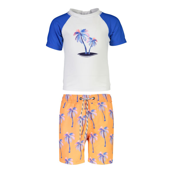 Snapper Rock Baby Set Short Sleeves B50003- Sunset Moorings Palm