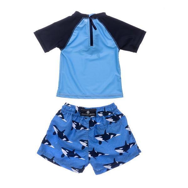Snapper Rock Orca Ocean Baby SS Set B50006- Blue