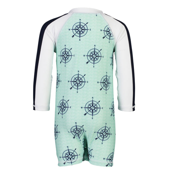 Snapper Rock Sunsuit Long Sleeves B70029L- Compass