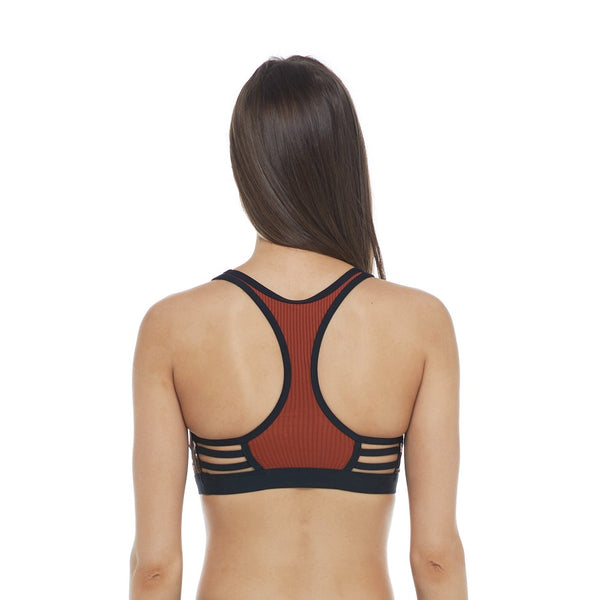 Body Glove Equalizer Medium Support Cross-Over Sports Bra 29-531706- Flourish