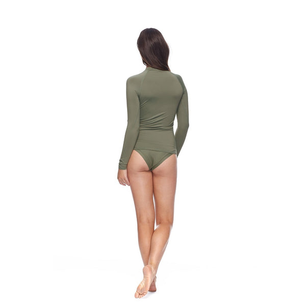 Body Glove Sleek Long Sleeve Rashguard 39-506741A- Cactus