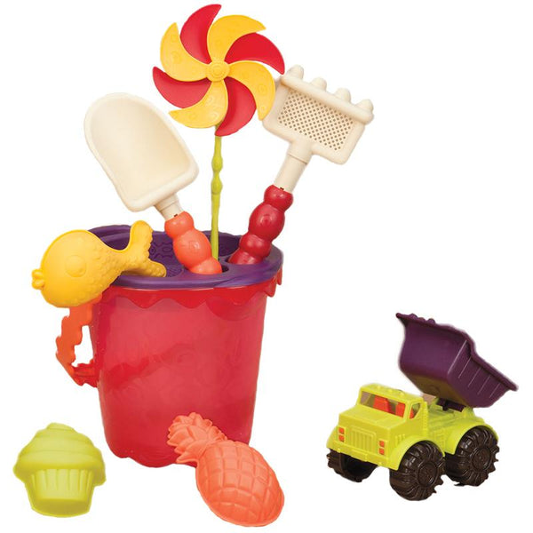 B.Toys BX1331Z Medium Bucket Set >18Mth-Mango