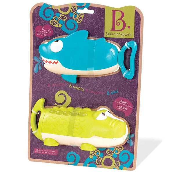 B.Toys BX1551Z Animal Water Squirts- Shark And Croc >18Mth
