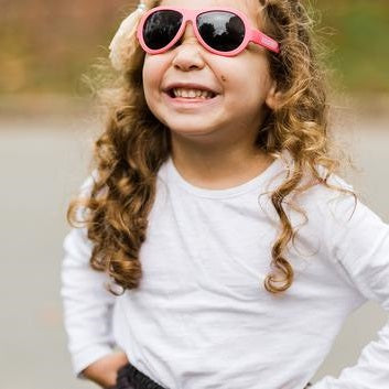 Babiators Original Two Tone Sunglasses Classic 3-5 Yr BAB 206- Trickled Pink
