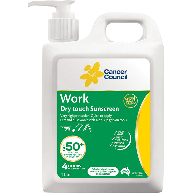 Cancer Council Australia 1253 Work SPF50+ Sunscreen1L
