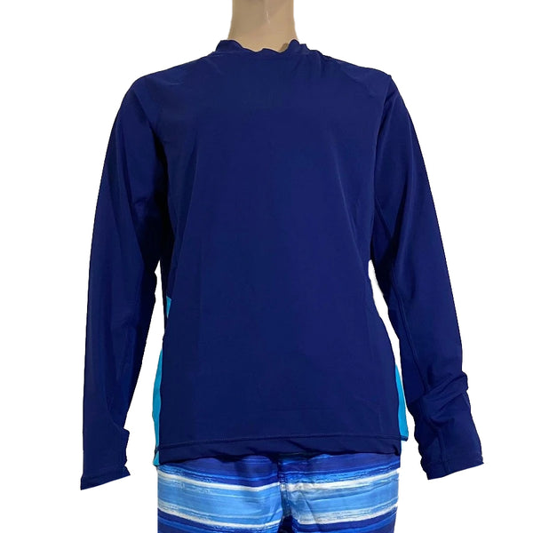Cabana Life Men Rashguard Long Sleeve 905-NT8- NVAQ