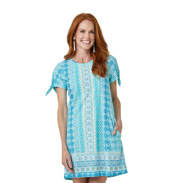 Cabana Life Swing Dress With Tie Sleeve 635-CO21- Coastal Cottage