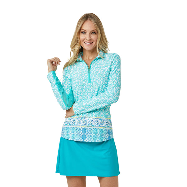 Cabana Life Wicking Performance Zip Top 594-CO21- Coastal Cottage