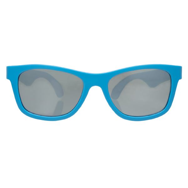 Babiators Navigators Mirrored Sunglasses >6yr ACE 016- Blue Frame