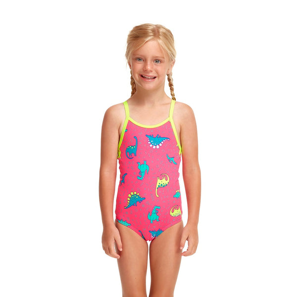 Funkita Toddler Girls Printed One Piece FG01T- Dancing Dino