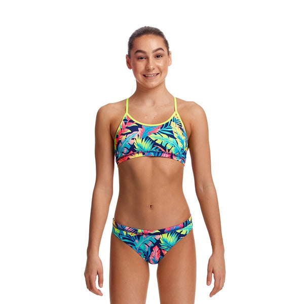 Funkita Girls Eco Racerback Two Piece FKS035G- Palm Off