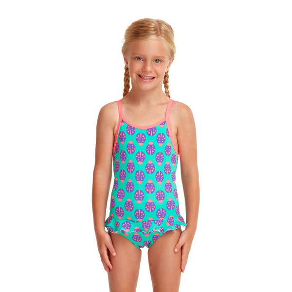 Funkita Toddler Girls Frill 1 Piece FKS039G- Love Bug