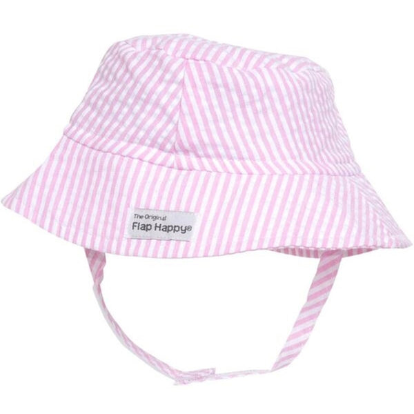 Flap Happy CHT Upf 50+ Crusher Hat- Pink Stripe Seersucker