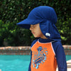 Flap Happy FHU Upf 50+ Swimflap Hat- Navy