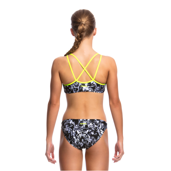 Funkita Girl's Criss Cross Two Piece D-P FS33G- Midnight Assassin