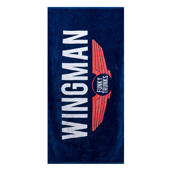 Funky Trunks Towel FT90- Navy Wingman