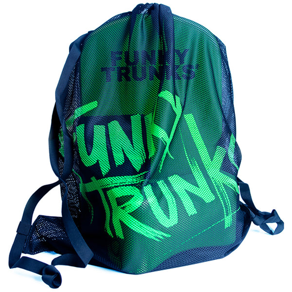 Funky Trunks FTG010A Mesh Gear Bag-Still Black