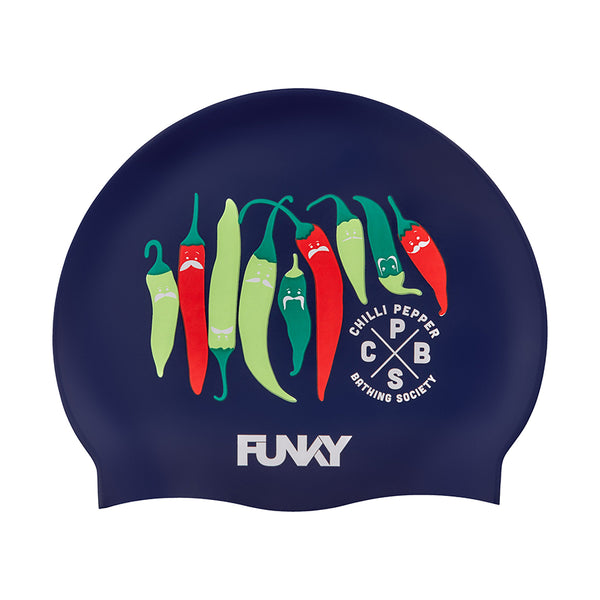 Funky Silicone Swimming Cap FYG017N- Chilli Boss