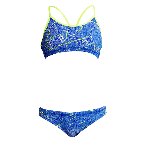 Funkita Girls Racerback Two Piece FS02G- Sea Salt