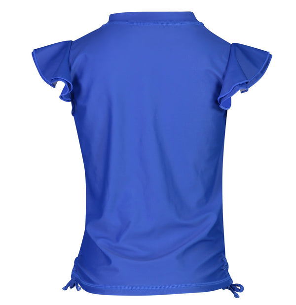 Snapper Rock Girls Rash Top Flutter Sleeve G10107S- Solids