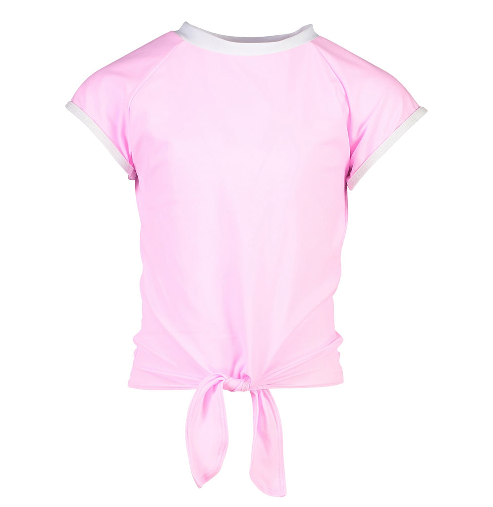 Snapper Rock Girls Rash Top Short Sleeve G10110S- Solids Pink