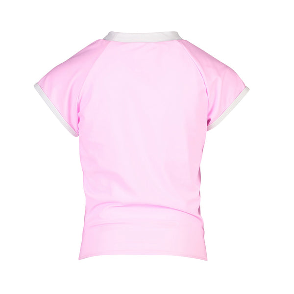 Snapper Rock Girls Knot Front Rash Top Short Sleeve G10110S- Solids
