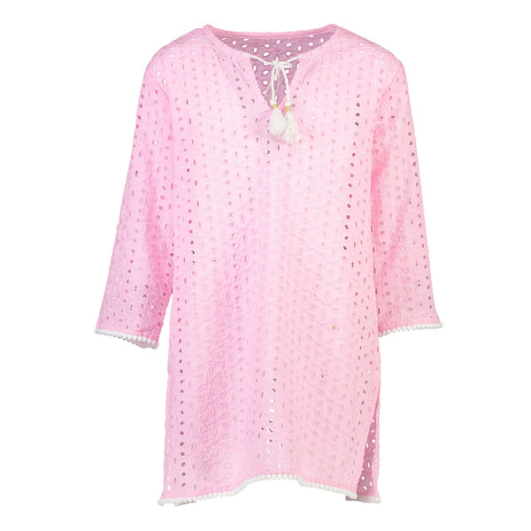 Snapper Rock Girls Kaftan G11044- Solids Pink