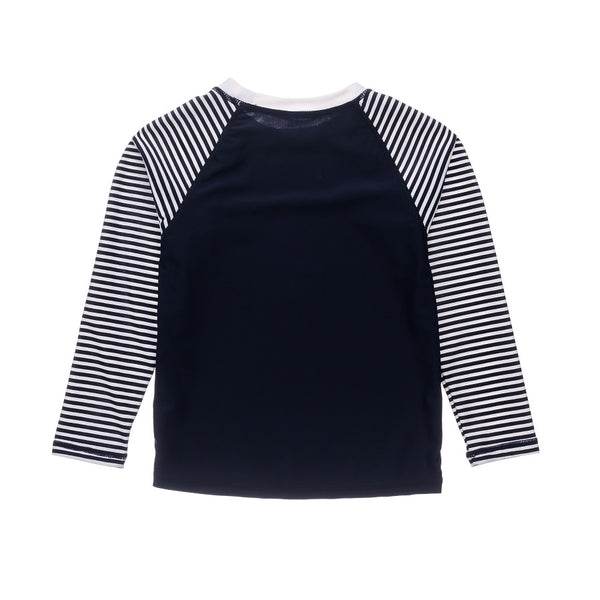 Snapper Rock Nautical Stripe Navy LS Rash Top G20063L- Navy