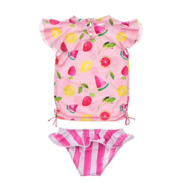 Snapper Rock Fruit Fiesta SS Ruffle Set G50022- Pink