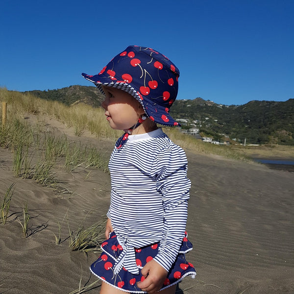 Snapper Rock Ma Cheri LS Ruffle Set G52009- Navy