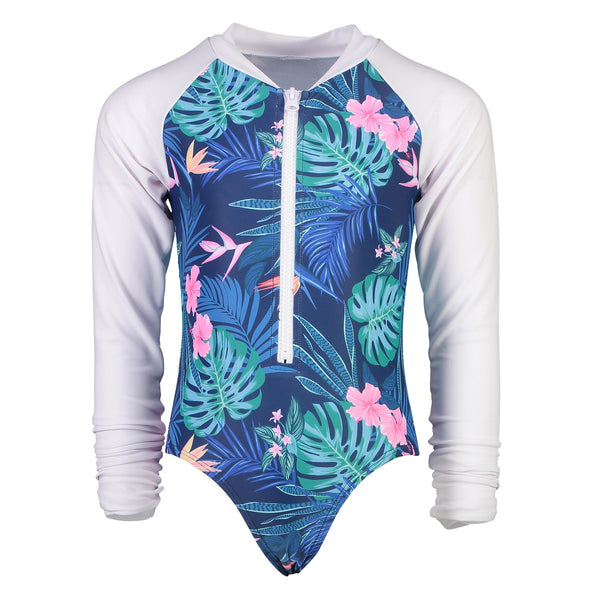 Snapper Rock Girls Surf Suit Long Sleeves G60008L- Rain Forest