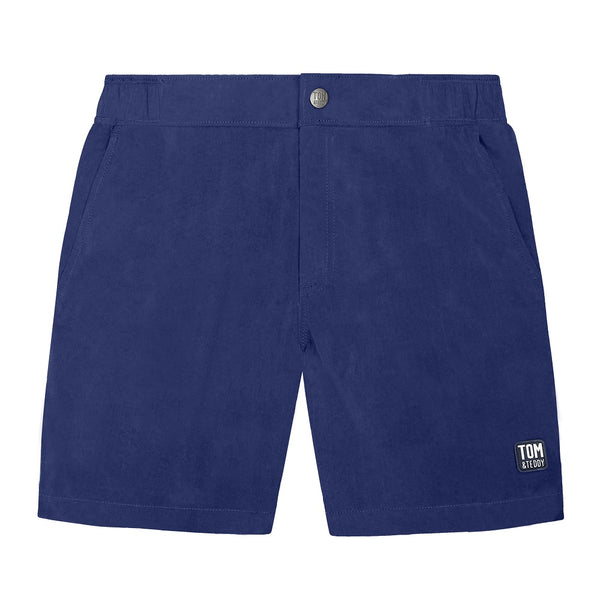 Tom & Teddy Flat Front Shorts SOLBL-FF- Midnight Blue