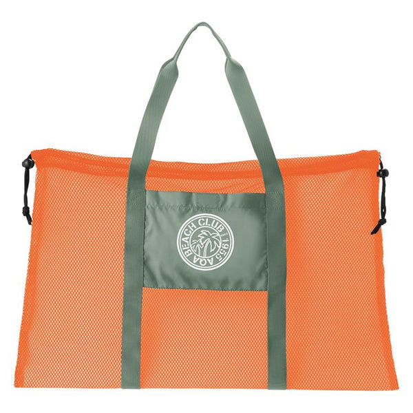 AQA Club Flipper KB-8073A Mesh Tote Bag- Orange/Khaki