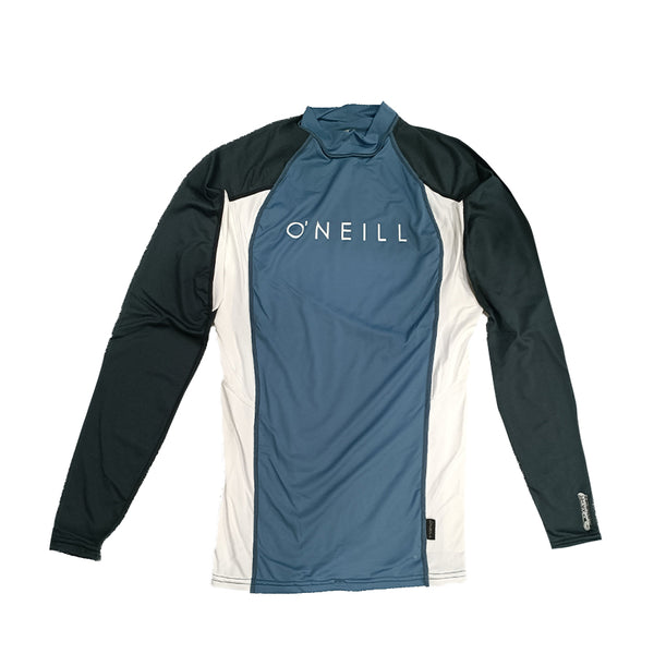 O'Neill Mens Skin Crew Long Sleeve RG4170OADUS - Dustyblue/White/Graphic