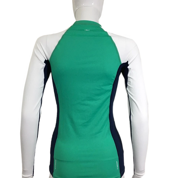 O'neill Womens Skins Crew Long Sleeve RG402650SEA- Seaglass Navy White
