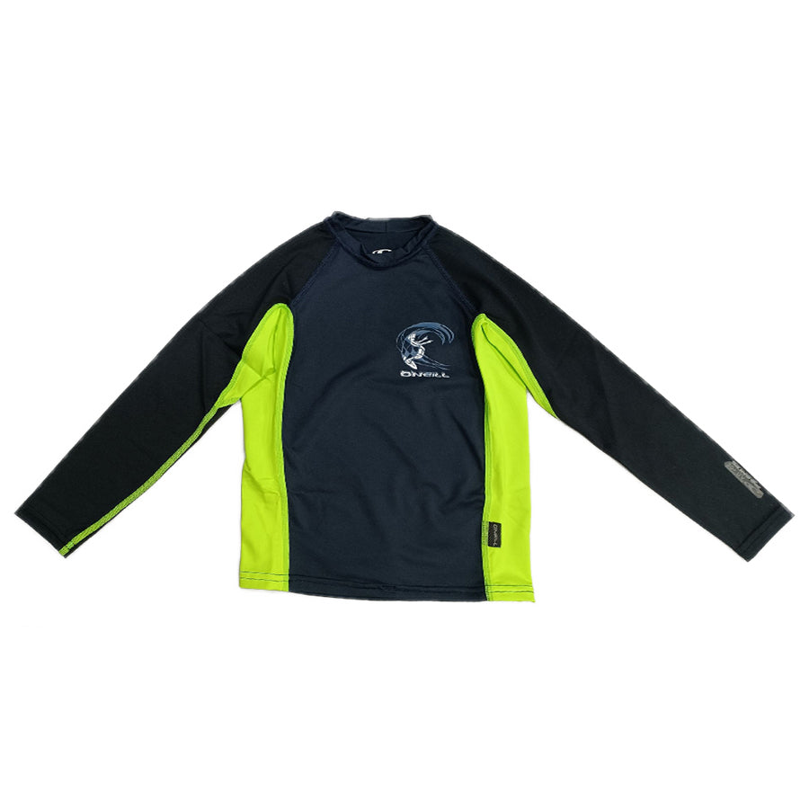 O'Neill Boys Youth Skin Crew Long Sleeve RG4174OA2ABY- Abyss/Dglow/Black
