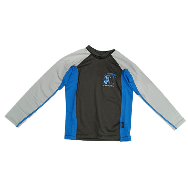 O'Neill Boys Youth Skin Crew Long Sleeve RG4174OA2MIN- Midnight Oil/Ocean/Cool Grey