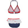 Platypus PK74B-BS Girls Cross-Over Bikini- Beach Scene