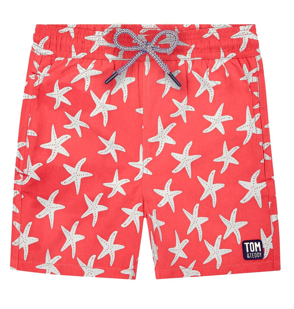 Tom & Teddy Starfish Boys Swim Shorts STFRB-J- Rose & Blue