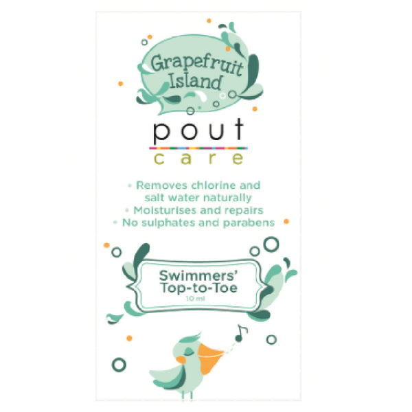 Pout PT018 Swimmers' Top-To-Toe Sachet 10ml- Grapefruit Island
