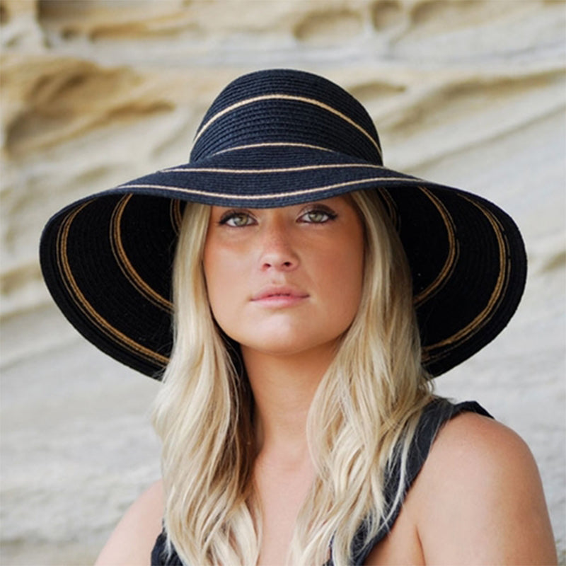 2f362dd56a5 Wallaroo Hats Savannah Women s Sun Protective Hat- Black  Camel ...