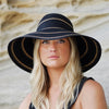 Wallaroo Hats Savannah Women's Sun Protective Hat- Black/ Camel