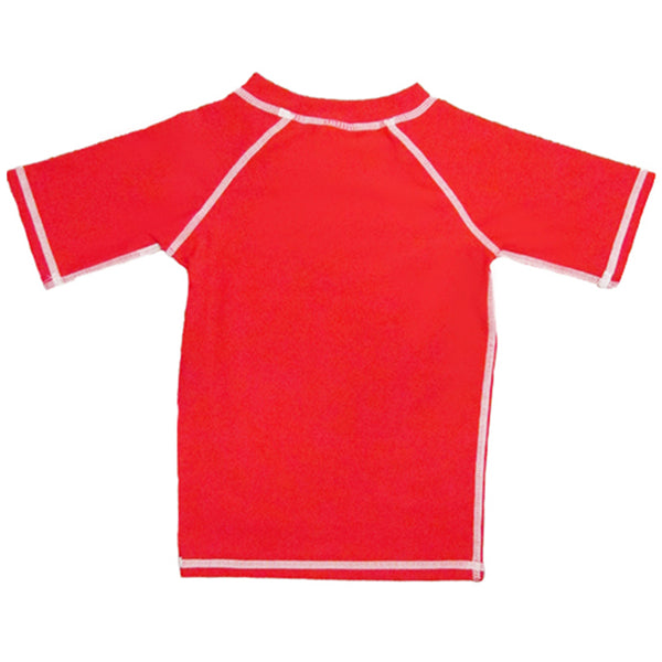 Snapper Rock Boys Short Sleeves Rash Top 156 -Red