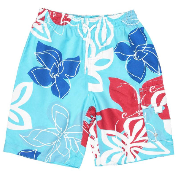 Snapper Rock 946 Board Shorts- Royal Red Tropical