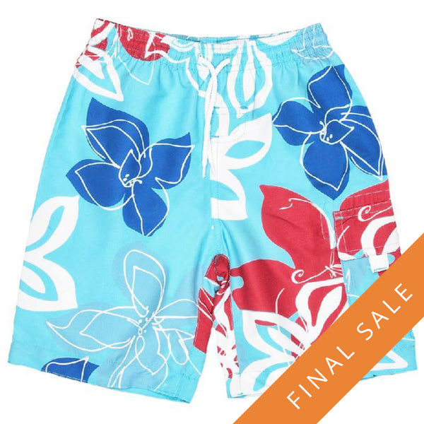 Snapper Rock 946 Boardshorts- Royal Red Tropical